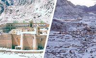 Снегопад в Египте засыпал монастырь Св.Екатерины и оживил турпоток.