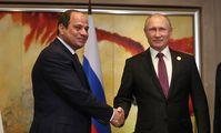 Президент Египта поздравил Путина с победой на выборах