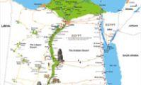 Карта Египта: оазисы в пустыне