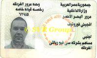 водительское удостоверение. Египет