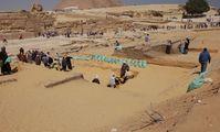 Раскопки на плато Гиза, сфинкс