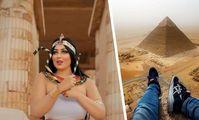 В Египте у пирамид устроили провокационную фотосессию: ФОТО