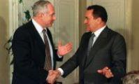 Хосни Мубарак и Беньямин Нетаньяху в египте