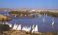 Асуан, панорама города и Нила